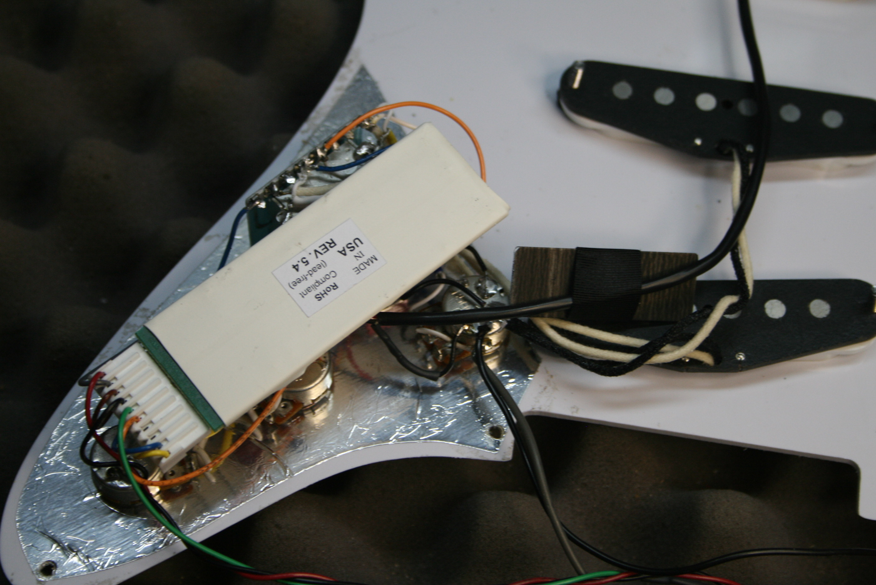 Semi Installation Les Paul Pro Wiring Diagram Strat With Sustainiac Toggle Controls Showing Board